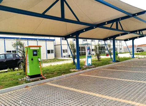 南昌新能源汽车产业项目部充电桩案例