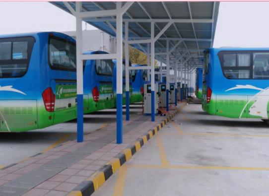 桂林金山公交站充电桩应用案例