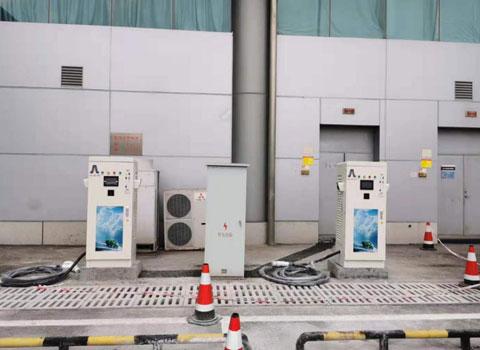 重庆江北机场停机坪室内充电站60KW-7KW充电桩