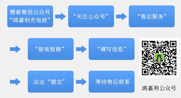 鸿嘉利充电桩【售后服务】报装报修流程