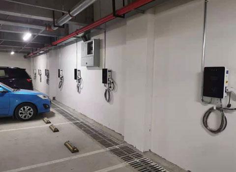 重庆7kw立柱壁挂式交流充电桩重庆万州区恒产项目案例